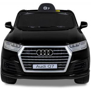 Audi voiture pour enfant Q7 noir vue de face phares des portiers rétroviseurs latéraux