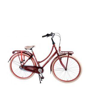 SALUTONI vélo de ville - 28 pouces - 50 centimètres - Bordeaux - 95% assemblé