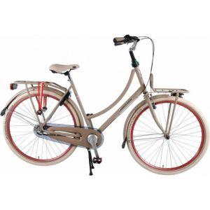 SALUTONI vélo de ville - femmes - 28 pouces - 50 centimètres - Sable - Shimano Nexus 3 vitesses - 95% assemblé