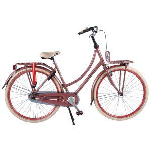 SALUTONI vélo de ville femmes 28 pouces 50 cm vieux rose assemblé à 95 %
