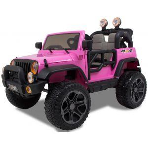 Jeep style voiture pour enfant rose 2 places