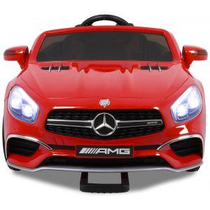 Mercedes pour enfant SL65 rouge avec écran vidéo roues volant accélérateur vue de face