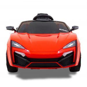 """""""Spider"""" pour enfant - rouge roues volant accélérateur vue de face"""