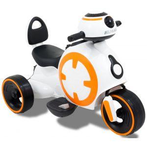 """Mini moto électrique pour enfant """" battle of stars"""" roues volant accélérateur vue de côté"""