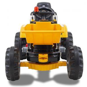 Kijana Tracteur électrique pour enfant vue de côté, roues volant accélérateur vue de face