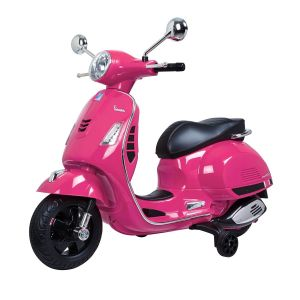 Vespa GTS scooter enfant rose