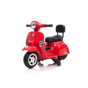 Vespa mini scooter électrique enfants rouge
