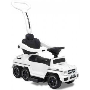 Trotteur pour enfant Mercedes G63 blanc vue de face logo siège