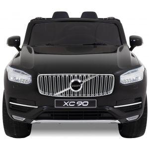 Volvo voiture pour enfant XC90 noir vue de face phares des portiers rétroviseurs latéraux
