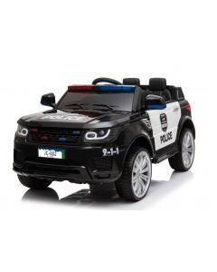 Land Rover style voiture enfant police noire