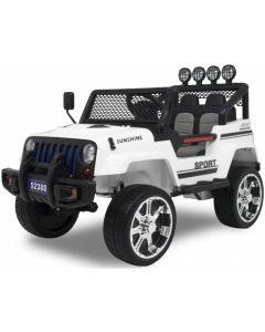 Kijana jeep voiture enfant Monster blanche