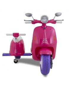Kijana scooter enfant électrique Vespa style rose 2 places