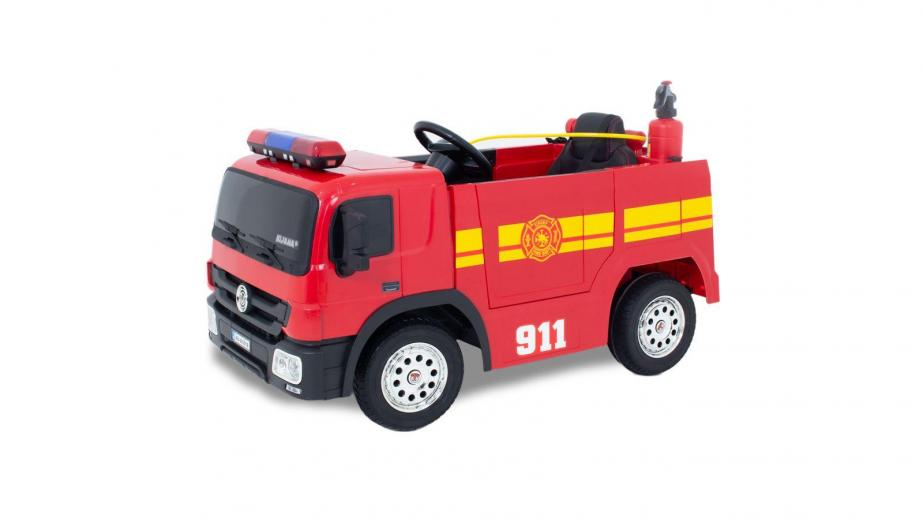 Camion de pompier et voiture de police! Le rêve de tout enfant